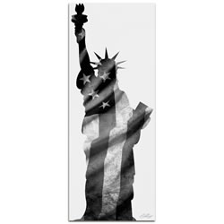LADY LIBERTY BLACK & WHITE - 48x19 in. Metal Patriotic Print