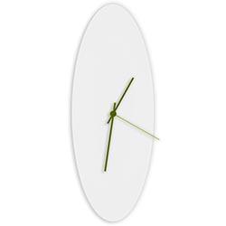 Whiteout Ellipse Clock Large by Adam Schwoeppe - Minimalist Modern White Metal Clock