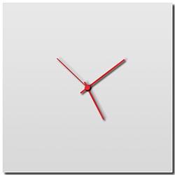 Whiteout Square Clock Large by Adam Schwoeppe - Minimalist Modern White Metal Clock