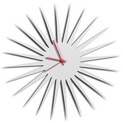 MCM Starburst Clock - White by Adam Schwoeppe - Midcentury Modern Wall Clock
