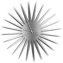MCM Starburst Clock - Silver by Adam Schwoeppe - Midcentury Modern Wall Clock