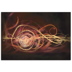 Warm Blend - Urban Abstract Art on Metal