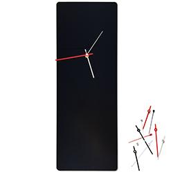 Metal Art Studio Minimalistic Decor Black Mod Clock Large 8.25in x 22in