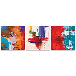 Abstract Wall Art Urban Triptych 5 - Urban Decor on Metal or Plexiglass