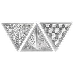 Helena Martin Growth Angles 34in x 13in Modern Metal Art on Ground Metal