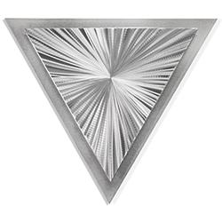 Helena Martin Starburst Angle 15in x 13in Modern Metal Art on Ground Metal