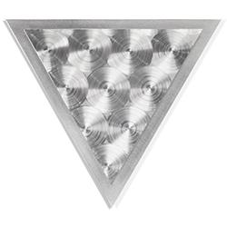 Helena Martin Discs Angle 15in x 13in Modern Metal Art on Ground Metal
