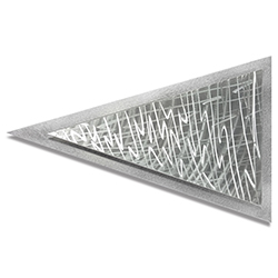 Helena Martin Frequency Arrow 24in x 15in Modern Metal Art on Ground Metal
