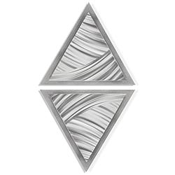 Folded Diamond by Helena Martin - Modern Metal Art on Ground Metal