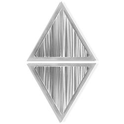 Linear Diamond by Helena Martin - Modern Metal Art on Ground Metal