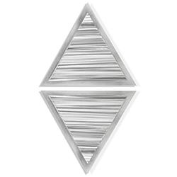 Strata Diamond by Helena Martin - Modern Metal Art on Ground Metal
