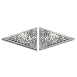 Flutters Diamond by Helena Martin - Modern Metal Art on Ground Metal