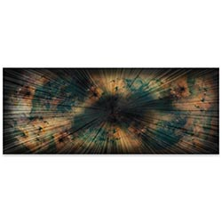 Helena Martin Organic Nebula 60in x 24in Original Abstract Art on Ground and Colored Metal
