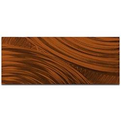 Helena Martin Moment of Impact Brown 60in x 24in Original Abstract Art on Ground and Painted Metal
