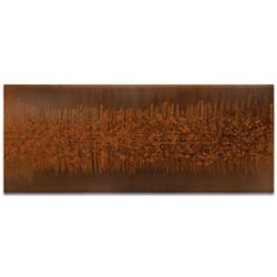 Helena Martin Static Brown 60in x 24in Original Abstract Art on Ground and Painted Metal