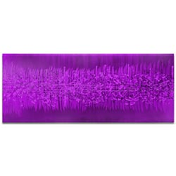 Helena Martin Static Purple 60in x 24in Original Abstract Art on Ground and Painted Metal