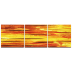 Momentum Triptych Large 70x22in. Metal or Acrylic Abstract Decor