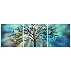 Moonlight Triptych 38x12in. Metal or Acrylic Fantasy Decor