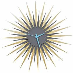 RF Atomic Clock - Maple Grey/Blue Starburst