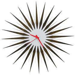 RF Atomic Clock - Walnut White/Red Starburst