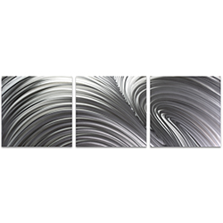 Fusion Triptych Large 70x22in. Metal or Acrylic Contemporary Decor