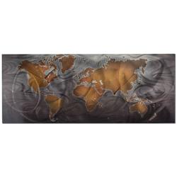 Bronze/Pewter Land & Sea - Modern Map Art