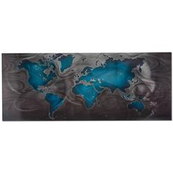 Blue/Pewter Land & Sea - Modern Map Art