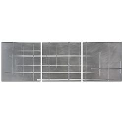 Lattice Triptych Large 70x22in. Metal or Acrylic Minimalistic Decor