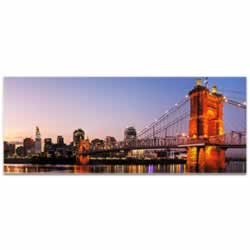 Cincinnati City Skyline - Urban Modern Art, Designer Home Decor, Cityscape Wall Artwork, Trendy Contemporary Art