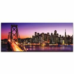 San Francisco City Skyline - Urban Modern Art, Designer Home Decor, Cityscape Wall Artwork, Trendy Contemporary Art