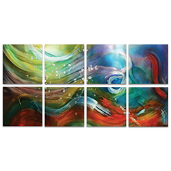 Esne Windows Large 94x46in. Metal or Acrylic Abstract Decor