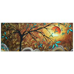 Apricot Moon - Abstract Painting Print by Megan Duncanson