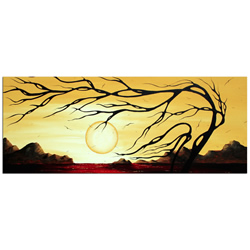 Golden Harmony - Abstract Painting Print by Megan Duncanson