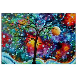 A Moment in Time - Abstract Painting Print by Megan Duncanson