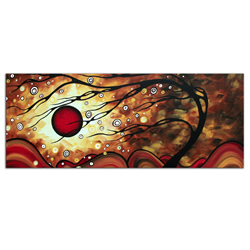 Flaming Desire - Abstract Painting Print by Megan Duncanson