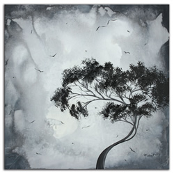 Lost Moon - Abstract Painting Print by Megan Duncanson