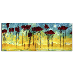 On the Pond - Abstract Painting Print by Megan Duncanson