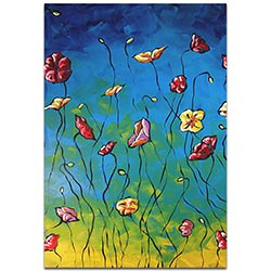 Flower Painting Poppy Essence - Abstract Flower Art on Metal or Acrylic