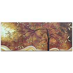 Landscape Painting The Wishing Tree - Abstract Tree Art on Metal or Acrylic