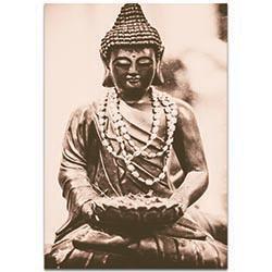 Eclectic Wall Art Buddha Statue - Religion Decor on Metal or Plexiglass
