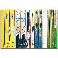 Eclectic Wall Art Ski Stop - New Orleans Decor on Metal or Plexiglass