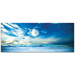 Landscape Photography Brisk Skyline - Winter Scene Art on Metal or Plexiglass