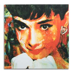 Audrey Hepburn - Modern Metal Wall Art