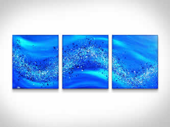 Blue Wave  - Original Canvas Art
