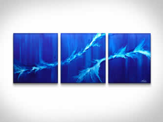 Twin Waves  - Original Canvas Art