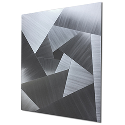 Scattered Edges by Nate Halley - Cubism Metal Art on Natural Aluminum