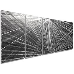 In Harmony 62x24in. Natural Aluminum Abstract Decor