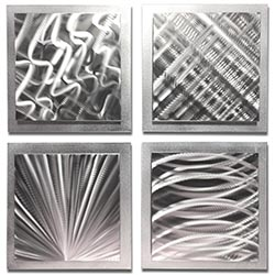 Silver Expressions 25x25in. Natural Aluminum Abstract Decor