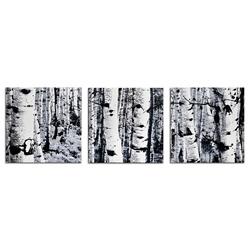 Aspen Triptych - Modern Metal Wall Art