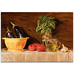 Traditional Wall Art Eggplant - Still Life Decor on Metal or Plexiglass
